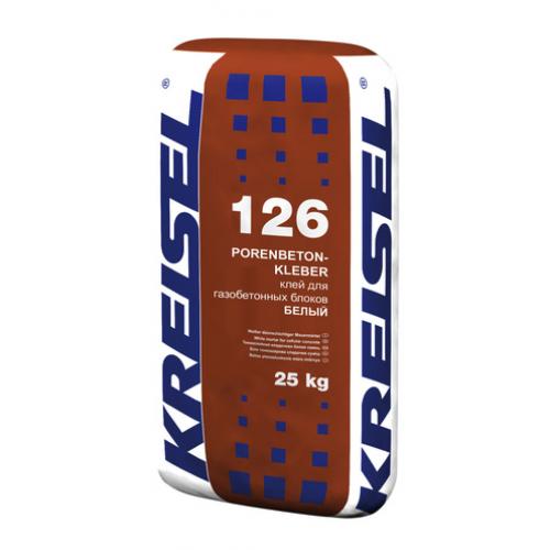 Кладочная смесь для газобетона PORENBETONKLEBER WEISS 126 Kreisel